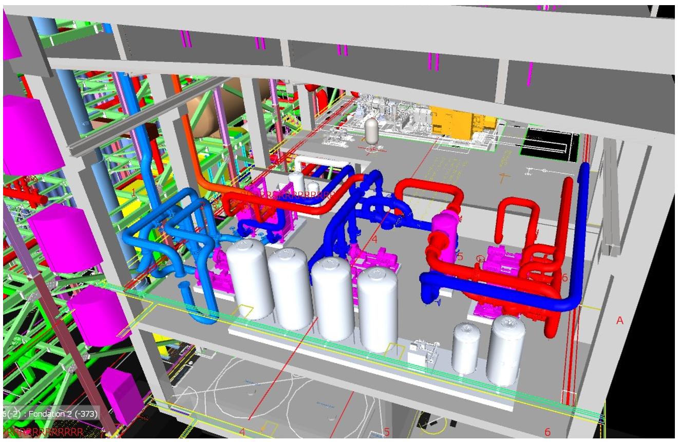 3D Planung Rohrverlauf mit Aufstellungsplan